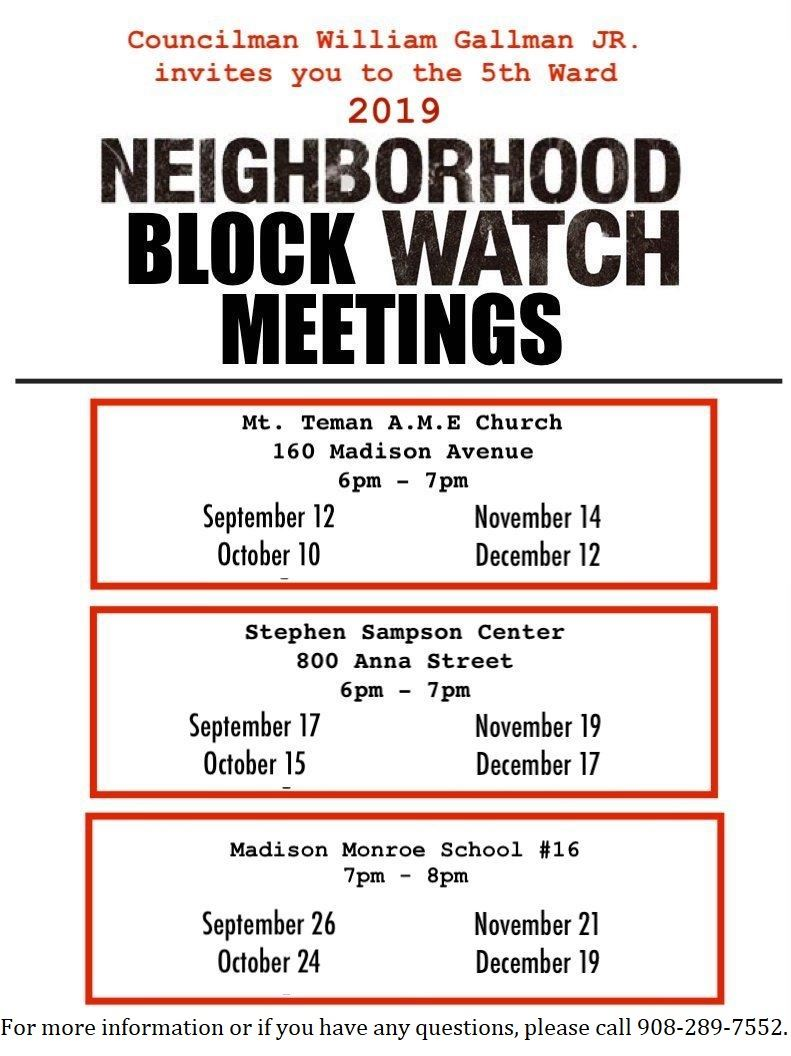 Neighborhood Watch Flyer