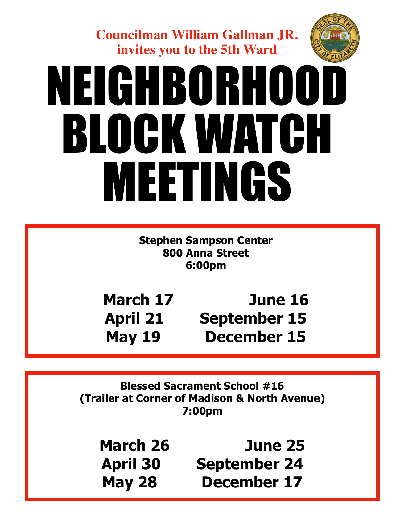 5th Ward Blockwatch